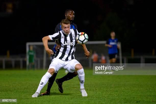 Cedrim Kameraj of Juventus FC Primavera and Stephen Danzo of FC Internazionale Primavera compete for the ball during the 'Memorial Mamma Cairo'...