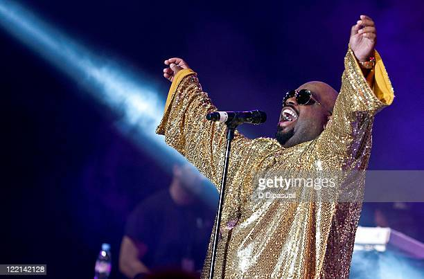 Cee Lo Green performs at the 2011 DIRECTV Old School Challenge at the Lexington Avenue Armory on August 25, 2011 in New York City.