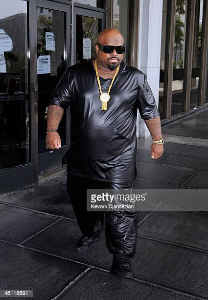 Cee Lo Green singer and coach on the television show 'The Voice' walks out of Los Angeles Superior Court after a court appearance on March 28 2014 in...