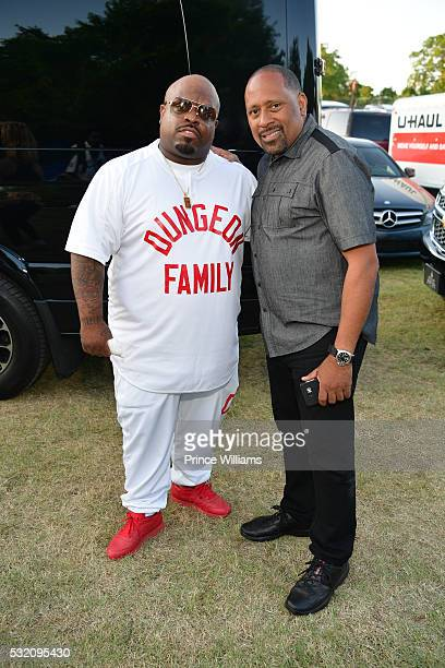 Cee-Lo and Frank Ski attend the Atlanta Funk Fest 2016 at Central Park Place on May 13, 2016 in Atlanta, Georgia.