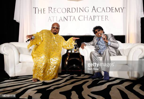 CeeLo and Little Richard speak onstage at The Legacy Lounge A conversation with CeeLo Green and his inspiration at W Atlanta Downtown on September 29...