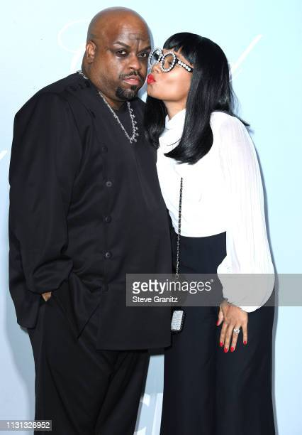 CeeLo and Shani James arrive at the Hollywood For Science Gala at Private Residence on February 21, 2019 in Los Angeles, California.