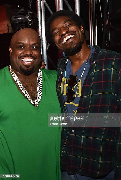 CeeLo Green and Andre 3000 attend In The Green Room CeeLo Green 40th Birthday Celebration on May 30 2015 in Atlanta Georgia