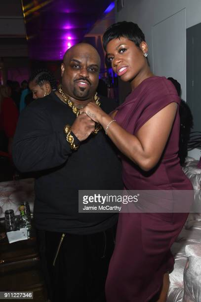 CeeLo Green and Fantasia Barrino attend Primary Wave Entertainment's 12th Annual PreGrammy Party on January 27 2018 in New York City