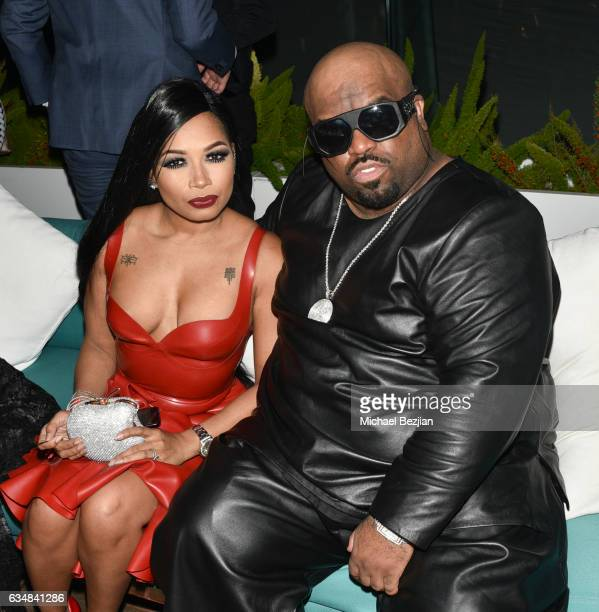 CeeLo Green and Shani James at Primary Wave Hosts Their 11th Annual PreGrammy In Partnership With Smirnoff Vodka at The London West Hollywood on...