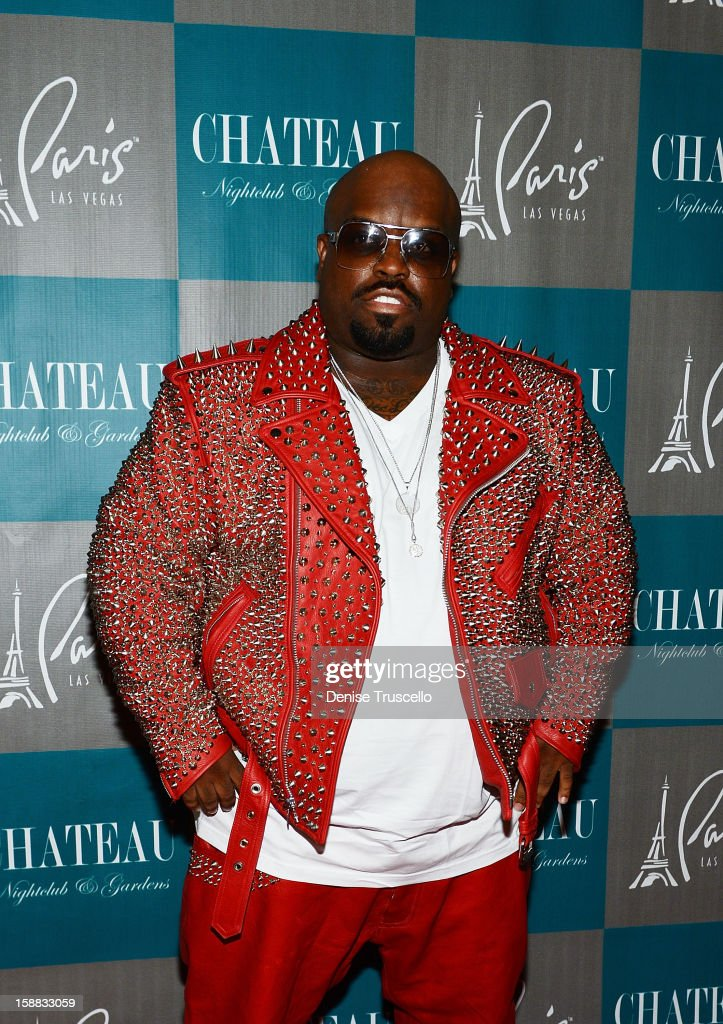 CeeLo Green arrives at Chateau Nightclub in Las Vegas for New Year's Weekend on December 30, 2012 in Las Vegas, Nevada.