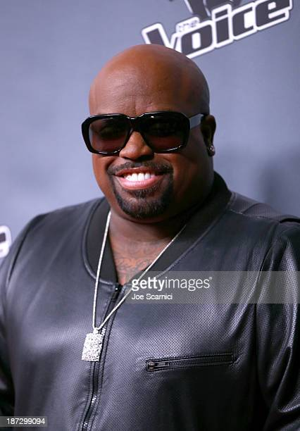 CeeLo Green arrives to the The Voice Season 5 Top 12 Event at Universal Studios Hollywood on November 7 2013 in Universal City California