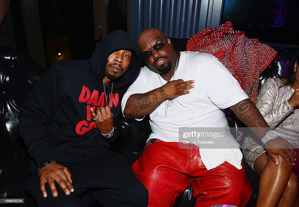 CeeLo Green (R) attends Chateau Nightclub in Las Vegas for New Year's Weekend on December 30, 2012 in Las Vegas, Nevada.
