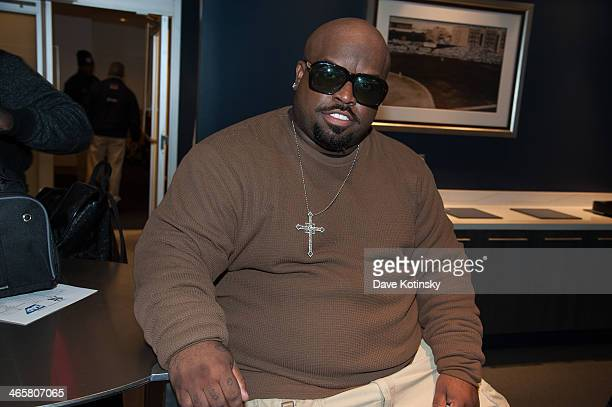 CeeLo Green attends the 2014 NHL Stadium Series at Yankee Stadium on January 29 2014 in New York City