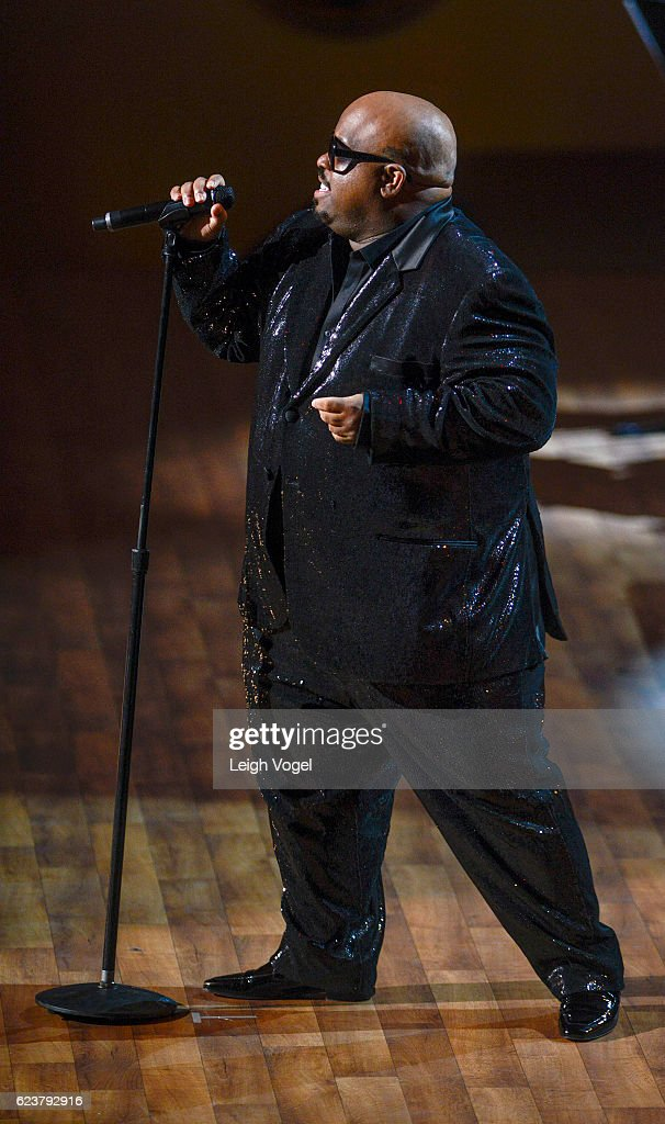 CeeLo Green performs during the 2016 Gershwin Prize For Popular Song Concert honoring Smokey Robinson at DAR Constitution Hall on November 16, 2016 in Washington, DC.