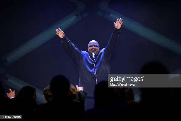 CeeLo Green performs onstage during the UCLA IoES honors Barbra Streisand and Gisele Bundchen at the 2019 Hollywood for Science Gala on February 21...