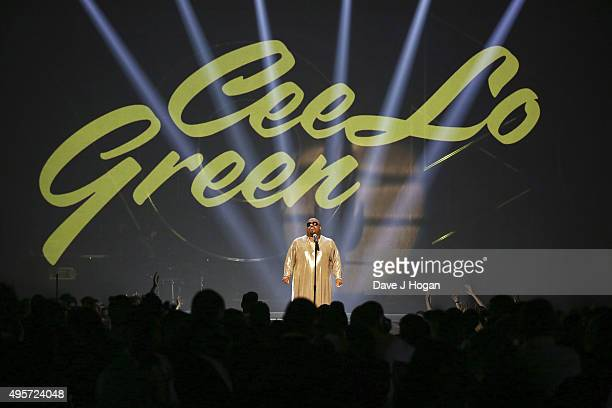 CeeLo Green perfroms during the MOBO Awards at First Direct Arena on November 4, 2015 in Leeds, England.
