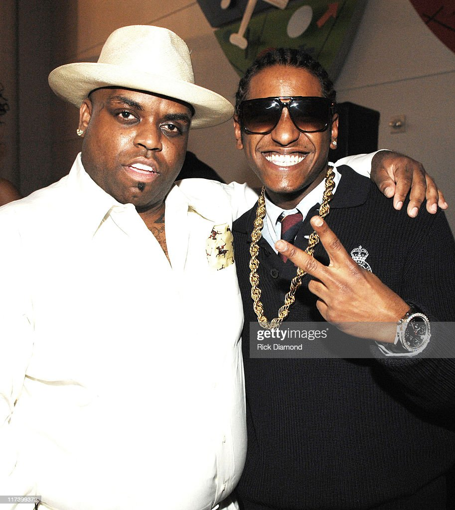 Cee-Lo of Gnarls Barkley and Lloyd during Radio One Presents 2nd Annual Dirty Awards - Red Carpet Arrivals at Georgia International Convention Center in Atlanta, Georgia, United States.