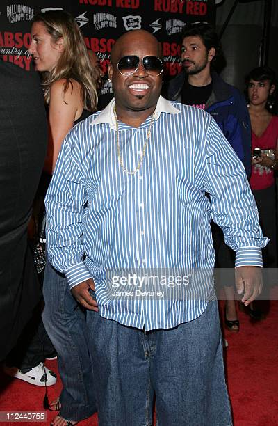 CeeLo of Gnarls Barkley during Pharrell Williams and Absolut Ruby Red Host Pre VMA Party Outside Arrivals at Chinatown Brasserie in New York City New...