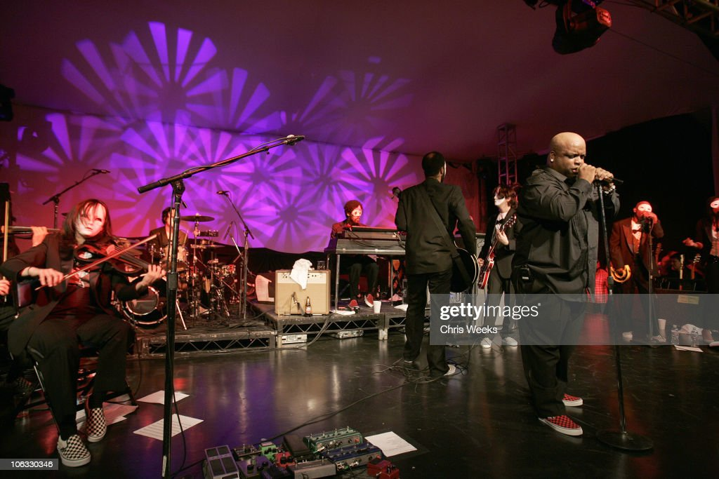 Cee-Lo of Gnarls Barkley during Samsung and Sprint Present the UpStage Country Club - Red Carpet and Inside at Private Residence in Beverly Hills, California, United States.