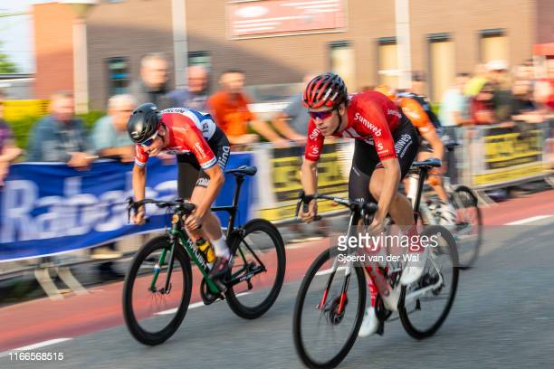 Cees Bol of the Netherlands and Team Sunweb and Robin Lowik of The Netherlands and Allinq-Krush-IJsselstreek CT Cycling Team during the 2019...