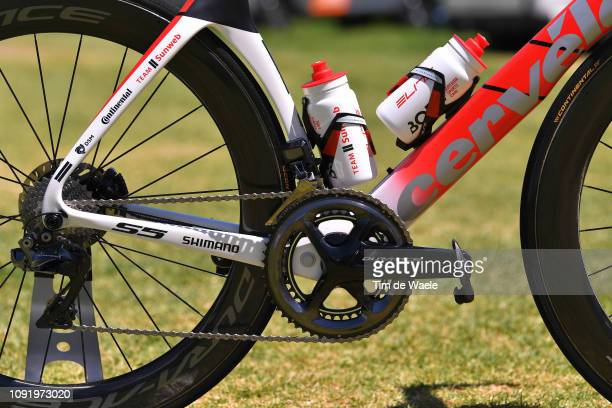 Cees Bol of The Netherlands and Team Sunweb / Cervélo Bike Team Sunweb / Shimano Dura-Ace Wheel, Crankset and Derailleur pulley / Continental tire /...
