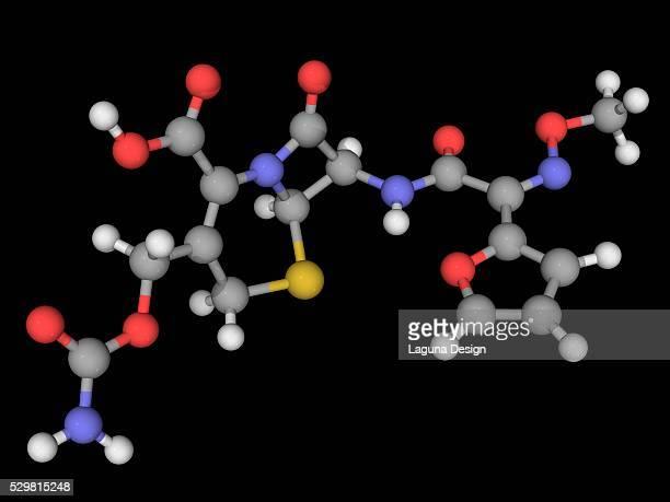 Cefuroxime drug molecule