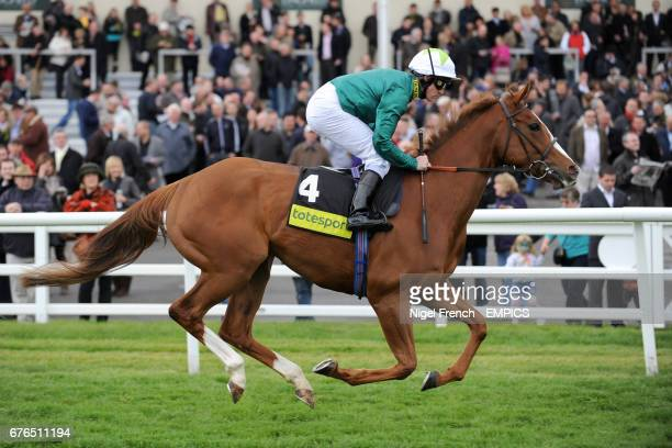 Ceilidh House ridden by Jim Crowley goes to post for the totesportcasinocom Oaks Trial Stakes