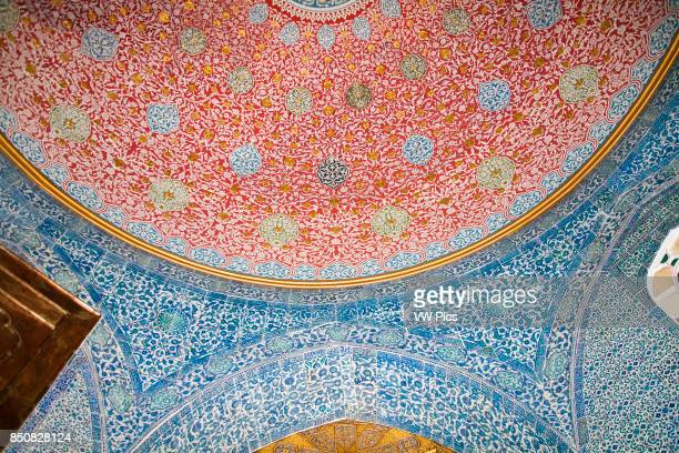 Ceiling and wall in Baghdad Pavilion Topkapi Palace also known as Topkapi Sarayi Sultanahmet Istanbul Turkey