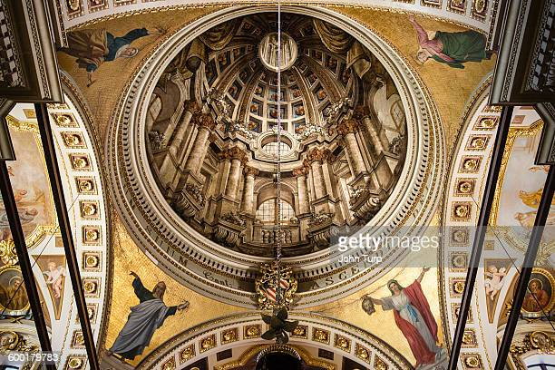 Ceiling Art in Gozo Cathedral, Rabat, Gozo, Malta.