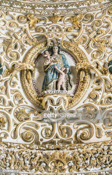 ceiling bas-relief - puebla mexico stock pictures, royalty-free photos & images