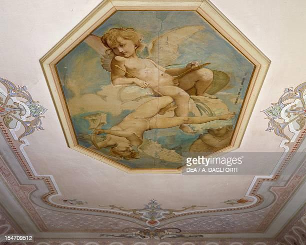 Ceiling decoration of the dining room of Villa Garnier Bordighera Italy 19th century