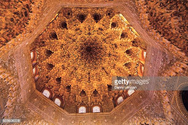 Ceiling Detail, Hall of the Two Sisters, The Alhambra, Granada