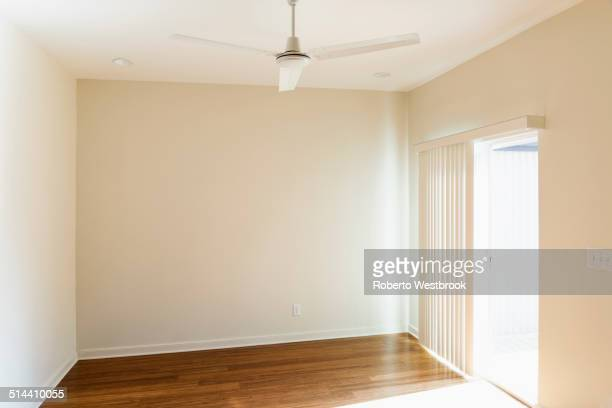 Ceiling fan over empty room