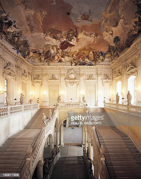 Ceiling fresco by Giovanni Battista Tiepolo Wurzburg Residence Germany by architect Johann Balthasar Neumann