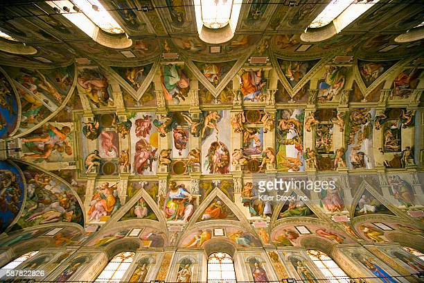 Ceiling Fresco Cycle at Sistine Chapel by Michelangelo Buonarroti