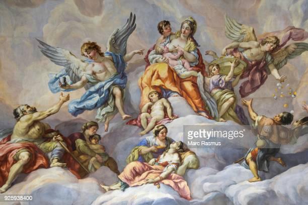 Ceiling fresco, detail, interior, Karlskirche, Vienna, Vienna, Austria