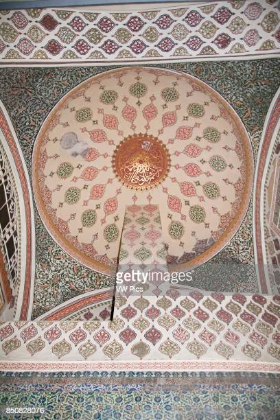 A ceiling in The Harem Topkapi Palace also known as Topkapi Sarayi Sultanahmet Istanbul Turkey