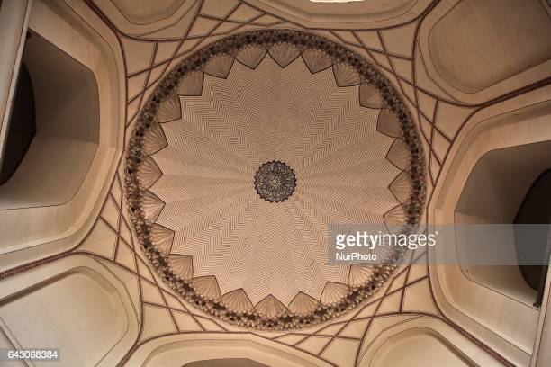 Ceiling in the tomb of the Mughal Emperor Humayun in New Delhi Delhi India Humayun's tomb was commissioned by Humayun's first wife and chief consort...