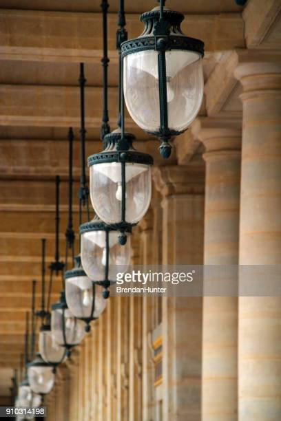 ceiling lights - palais royal stock pictures, royalty-free photos & images