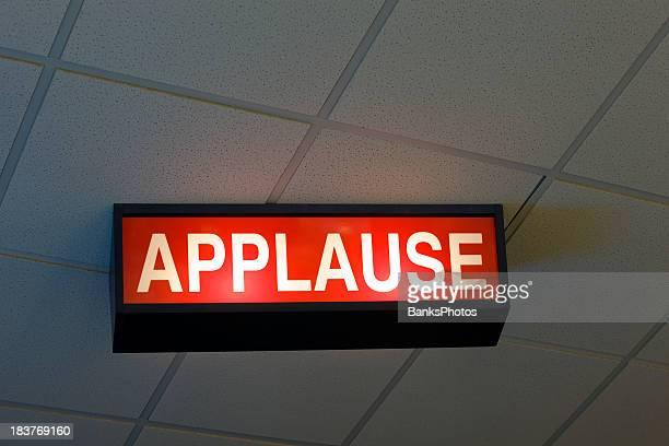 Decke montierten beleuchtet Applaus-Schild