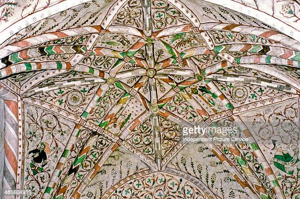 Ceiling murals inside St Clements Church in Sauvo Finland