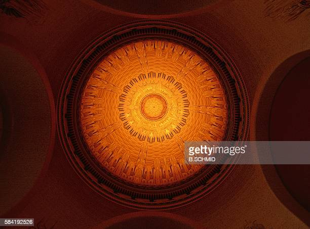 ceiling of a war memorial hall, canberra, australia - war memorial stock pictures, royalty-free photos & images
