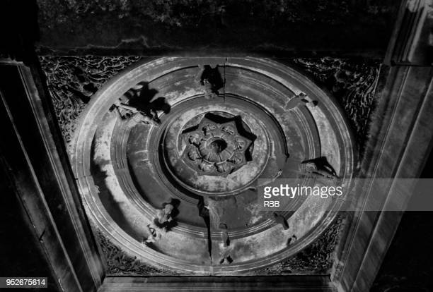 ceiling of bhuleshwar temple - two dimensional shape stock photos and pictures