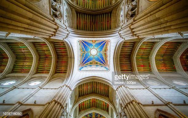 Ceiling of Catedral de la Almudena - Madrid, Spain