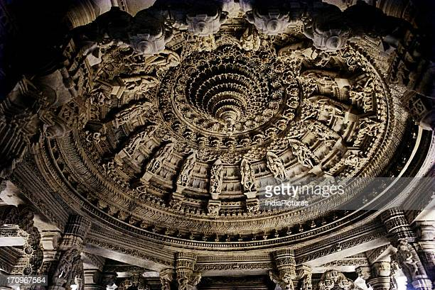 Ceiling of Dilwara Jain Temple, Mount Abu, Rajasthan, India.