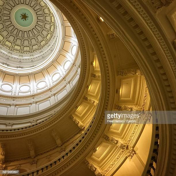 ceiling of dome of texas state capitol building - government stock pictures, royalty-free photos & images