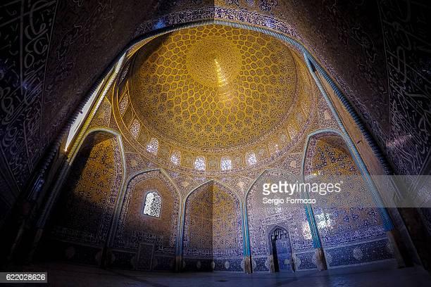 Ceiling of Masjed-e Sheikh Lotfollah, Isfahan, Iran