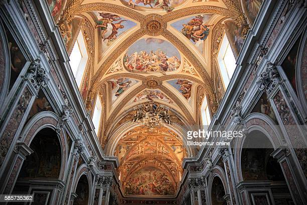 Ceiling of the church in the Certosa di San Martino on the above Vomero Naples, Campania, Italy.