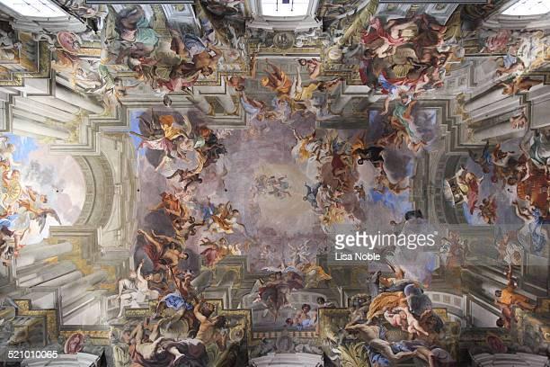 Ceiling of the Church of St Ignatius on Rome Italy Church of Sant'Ignazio di Loyola in Rome Italy