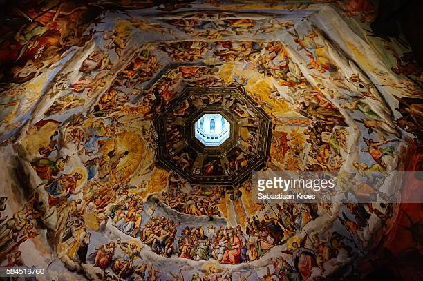 Ceiling of the Cupola of the Duomo of Florence, Italy