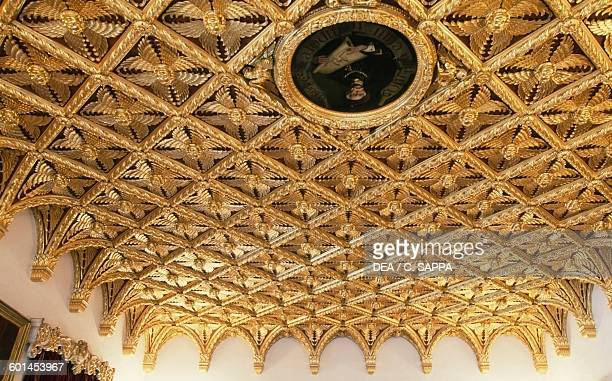 Ceiling of the Golden room Bojnice castle Slovakia 12th19th century