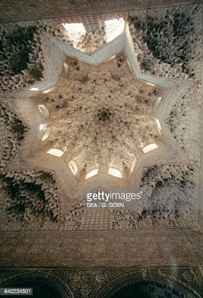 Ceiling of the Hall of Abencerrages of the Alhambra Granada Andalucia Spain 14th century