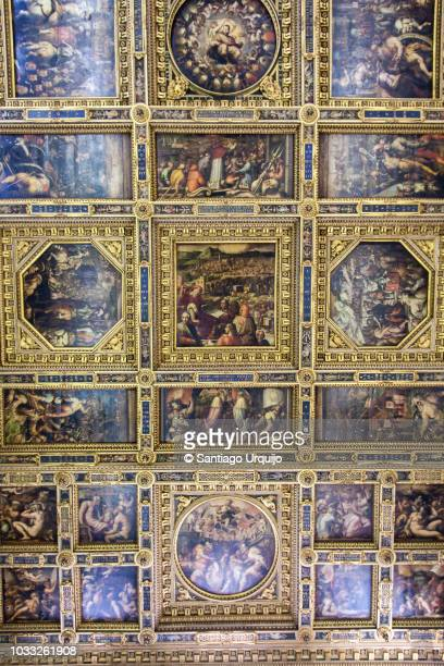 Ceiling of the Hall of the Five Hundred (Salone dei Cinquecento) in Palazzo Vecchio