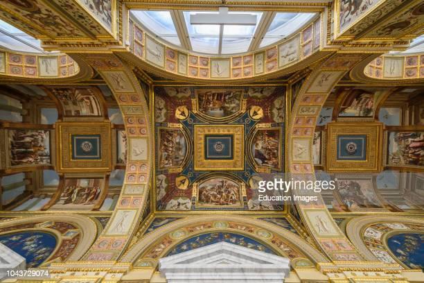 Ceiling of The Raphael Loggias at Hermitage Museum, Saint Petersburg, Russia.